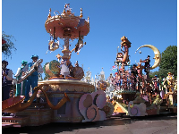 The parade is called Mickey's Soundsational Parade and it's at 4:00 and 6:30.