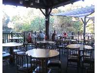 This kind of peace and quiet is hard to find at 5pm in Disneyland! Hungry Bear restaurant.