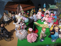 An assortment of dolls.