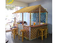 Hawaiian snack shack where parents can sit on the stools and be served by their kids!