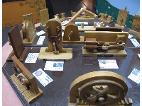 Gears such as Geneva Wheel and Steam Engine gear.