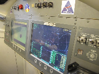 Control panel in the Orion launch vehicle.
