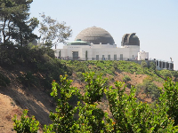 View of Griffith Observatory as you walk up East Observatory Rd.