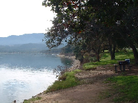 A picnic at Lake Cachuma.
