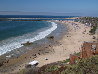Corona Del Mar Beach from above.