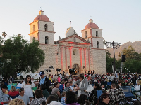 Fiesta Pequena at the mission, in August.