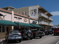 The main strip, Osceola Street.