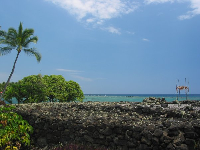 Site of ancient Hawaiian heiau, or religious site, near Kahuluu Beach and St Peter's Catholic Church.