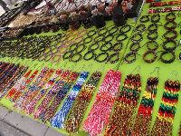 Jewelry stall along Ocean Front Walk.