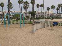 Playground on bike path between Venice Beach and Santa Monica.