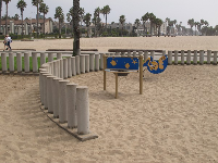 Playground in the sand, near Venice Beach at the bike path.