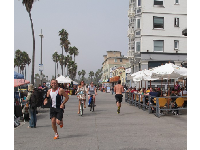 Bike onto Ocean Front Walk once you get to Venice Beach.