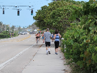 Morning walkers on the Ocean Drive Walk.