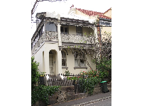 Highly ornamented townhouse near Glebe Point Rd.