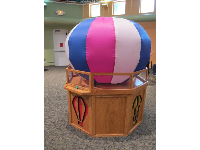 Hot air balloon in the Children's Science Explorium.