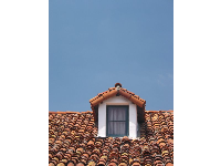 The rooftop of the Orena Adobe.