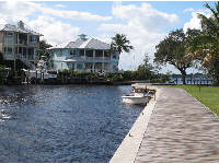 The canal leads to the intracoastal waterway.