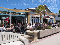 Custom House Restaurant has a sunny patio across the promenade from the water.
