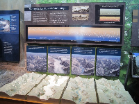 Exhibit about glaciers and climate change.