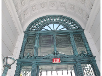 Entrance to the railcar pavilion.
