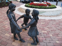 Ring around the rosie statue.