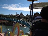 The High in the Sky Sneetches train ride takes you up over the lagoon.
