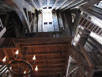 Roof in the Three Broomsticks Cafe. Look carefully while there and you will see things moving around.