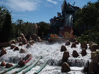 See people get wet in this river rapid ride at Toon Lagoon!