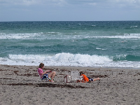 Kicking back at Hobe Sound Beach.