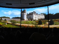 Impressions de France film, on 5 curved screens. My son keeps asking to see this again.