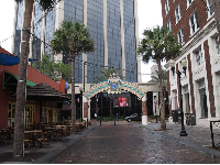 Wall Street, a pedestrian-only area of bars in the middle of Downtown Orlando.