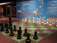 Life-size chess board.