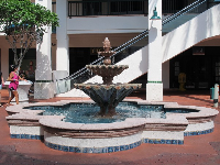 Spanish fountain at Riverfront.