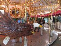 Ride the bald eagle on the carousel.