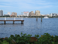 Dock on the intracoastal waterway.