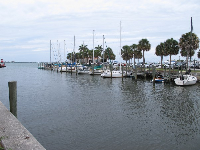 The marina next to the Manatee Observation Center.