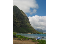 The stunning mountains above Baby Makapuu Beach.