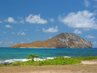View of Rabbit Island from Baby Makapuu Beach.