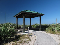 The gazebo you reach after a short walk, with views all around.