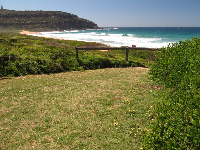 Grassy spot above Palm Beach North.