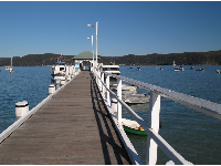 The ferry wharf at Palm Beach.