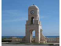 Gorgeous clocktower where Worth Ave meets the beach.