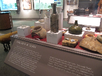 Glass bottles that survived the 1715 shipwreck.