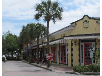 Street in Cocoa Village.