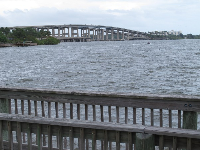The bridge as seen from Riverfront Park.