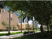 Walkway between Brickell Ave and Biscayne Bay, beside 701 Brickell Ave.
