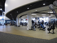 Weights in the Student Wellness Complex.