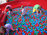 Ball pit at Woody Woodpecker's Kidzone.