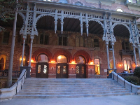 The stunning front porch of the former Tampa Bay Hotel with its Moorish details.