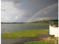 Rainbow over Lake Hollingsworth.